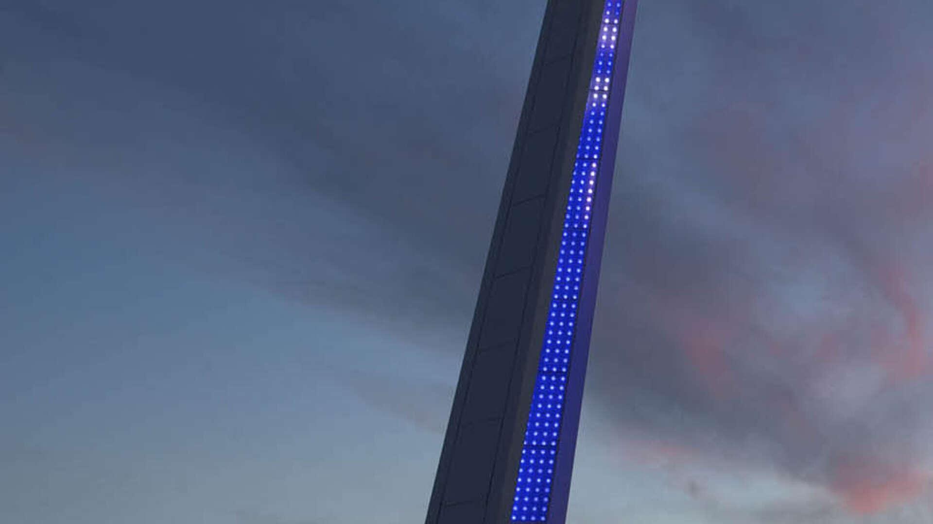 Custom designed lighting masts