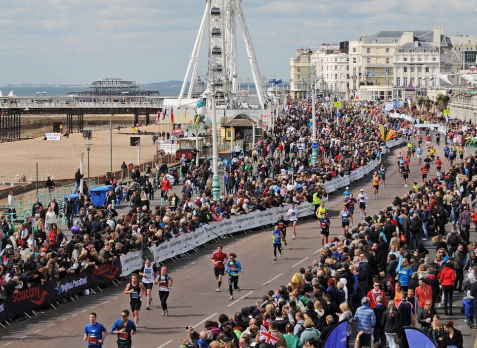 Design Director Chris Sutherland runs the Brighton Marathon