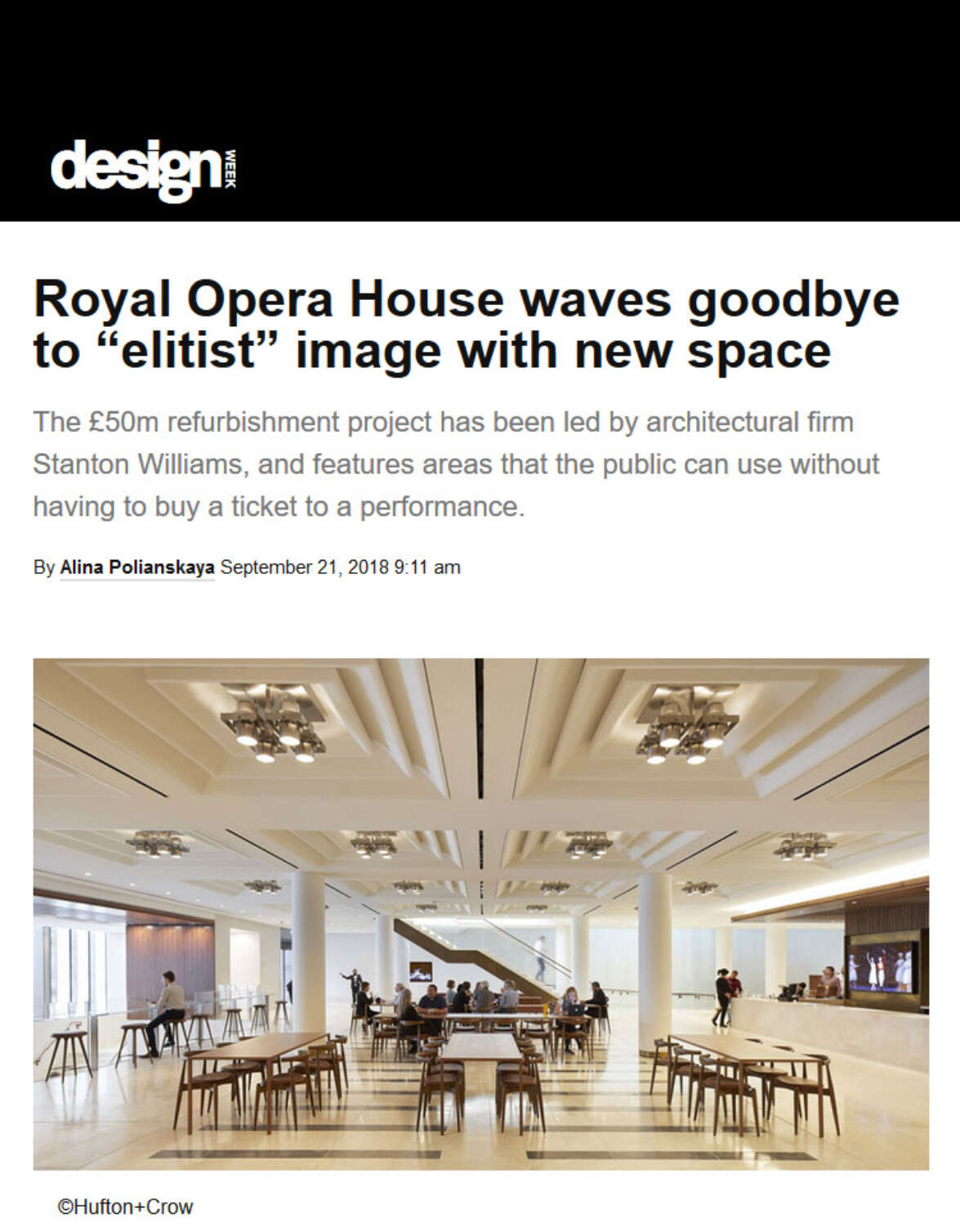 Design Week features The Royal Opera House