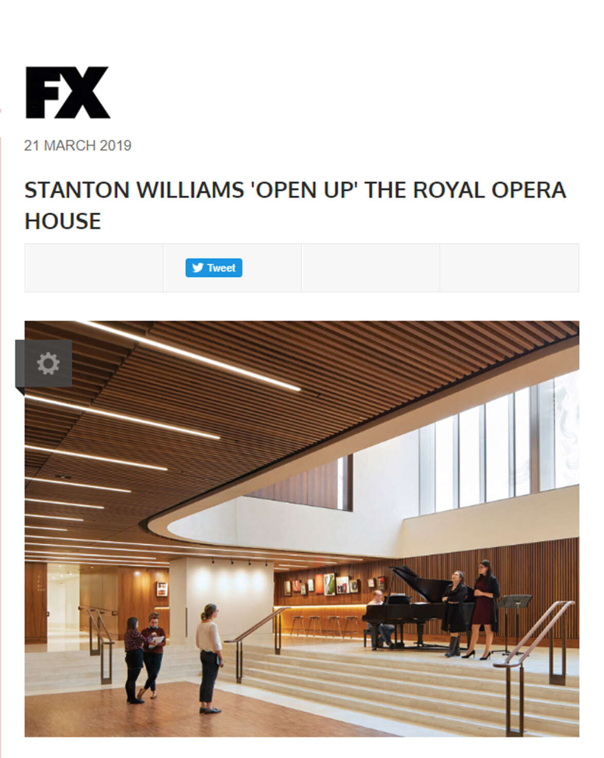 The Royal Opera House featured in FX Magazine