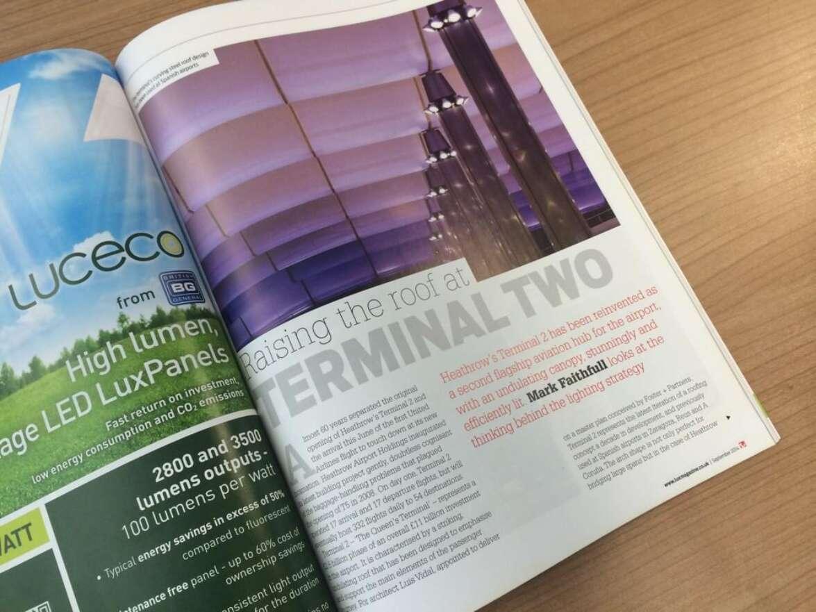 Lux Magazine features Heathrow Terminal 2A