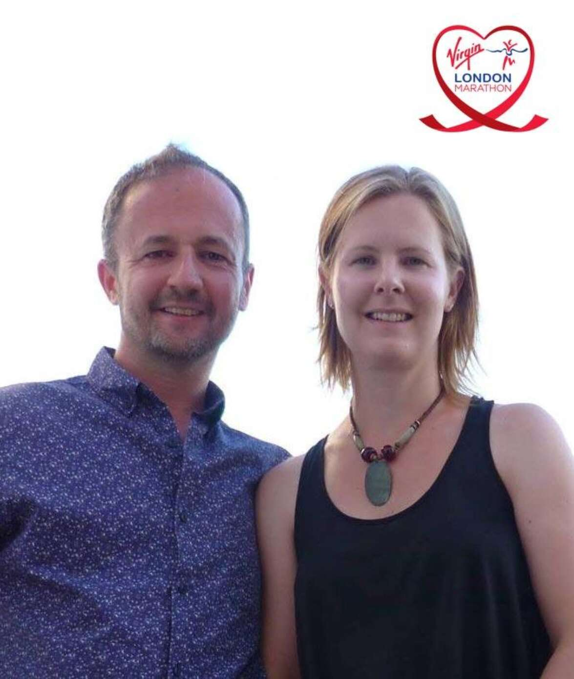 Our design director Ian Payne and his wife Samantha, sign up for the London Marathon