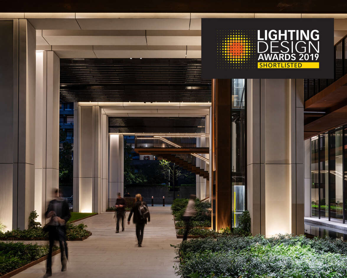 London Wall Place Shortlisted for the Lighting Design Awards
