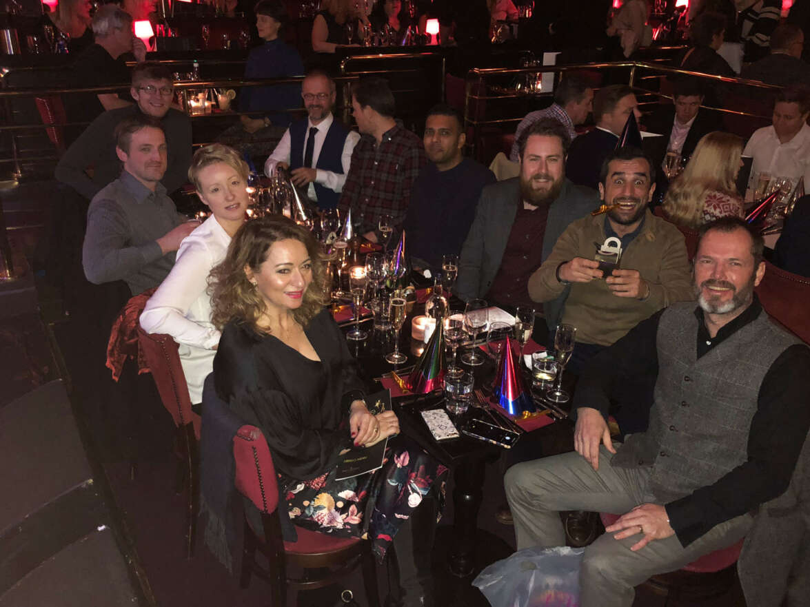 Sparkling festive fun for the team at Ronnie Scott's