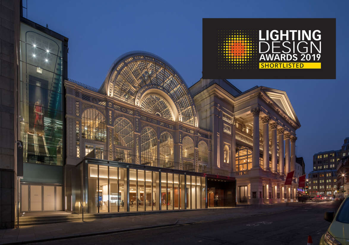 The Royal Opera House Shortlisted for The Lighting Design Awards