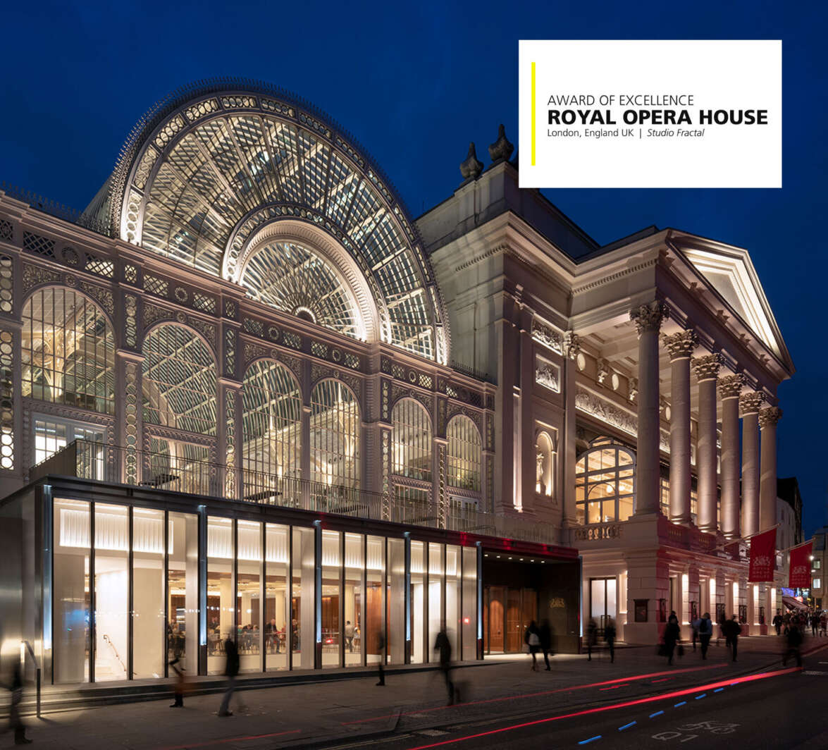 Royal Opera House wins Award of Excellence