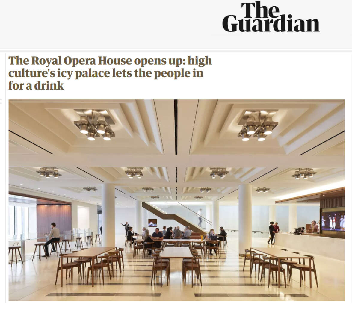 The Guardian review of The Royal Opera House transformation