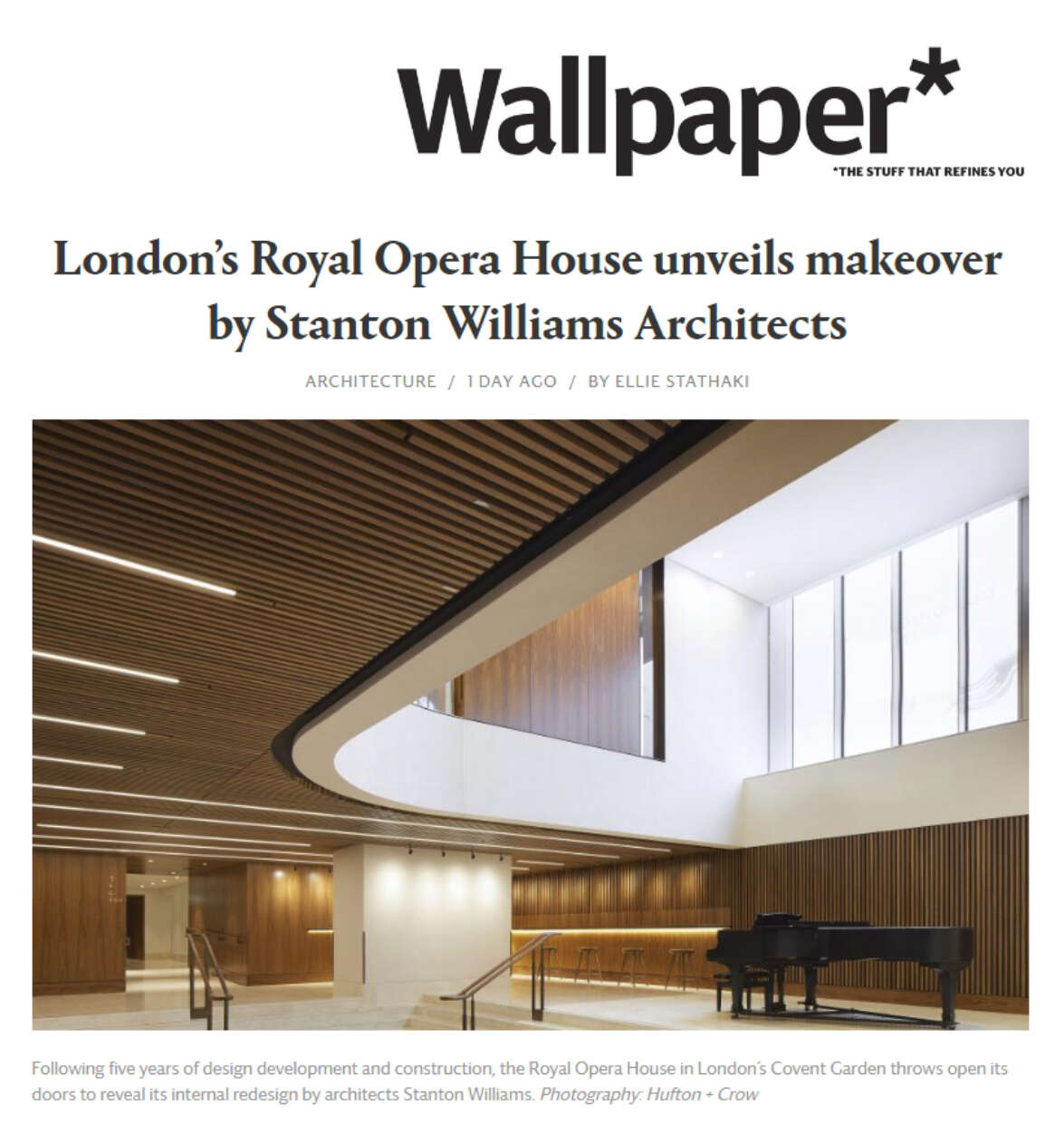 Wallpaper features The Royal Opera House transformation